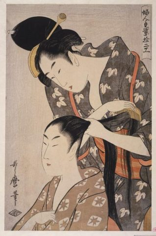 Kitagawa Utamaro, Donna che pettina, c. 1797-98, Art Gallery of South Australia